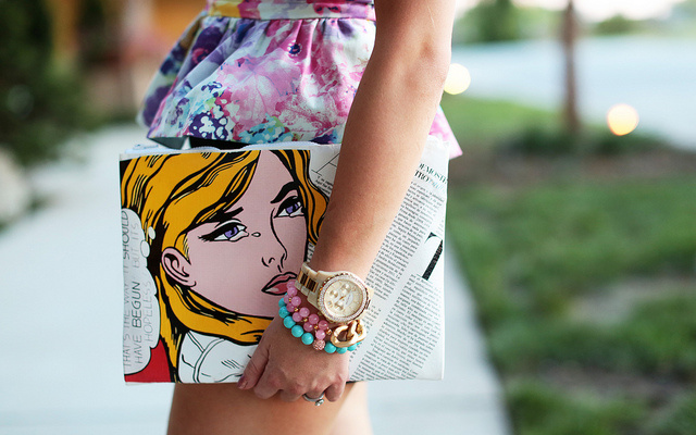 DIY-Phillip-Lim-Clutch-Purse-Pop-Art-Purse-Bag-Handbag-