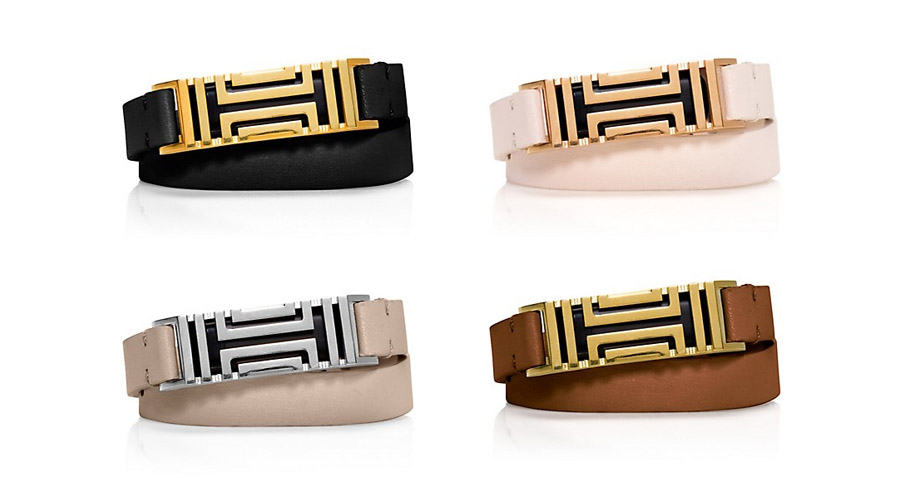 Tory-Burch-for-Fitbit-double-wrap-bracelet-black-white